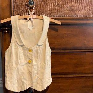 Tops - Seersucker vest size small